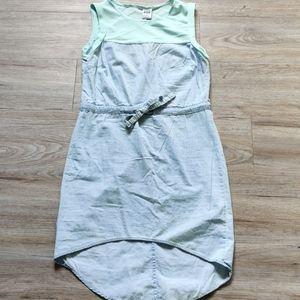 Vero Moda | Blue denim and chiffon dress